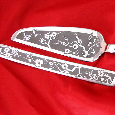 Personalized,Cherry,Blossom,Wedding,Cake,Server,and,Knife,Set,,DC,wedding,,Spring,DC wedding, spring wedding, cherry blossom wedding, wedding cake server set, personalized, wedding cake server & knife