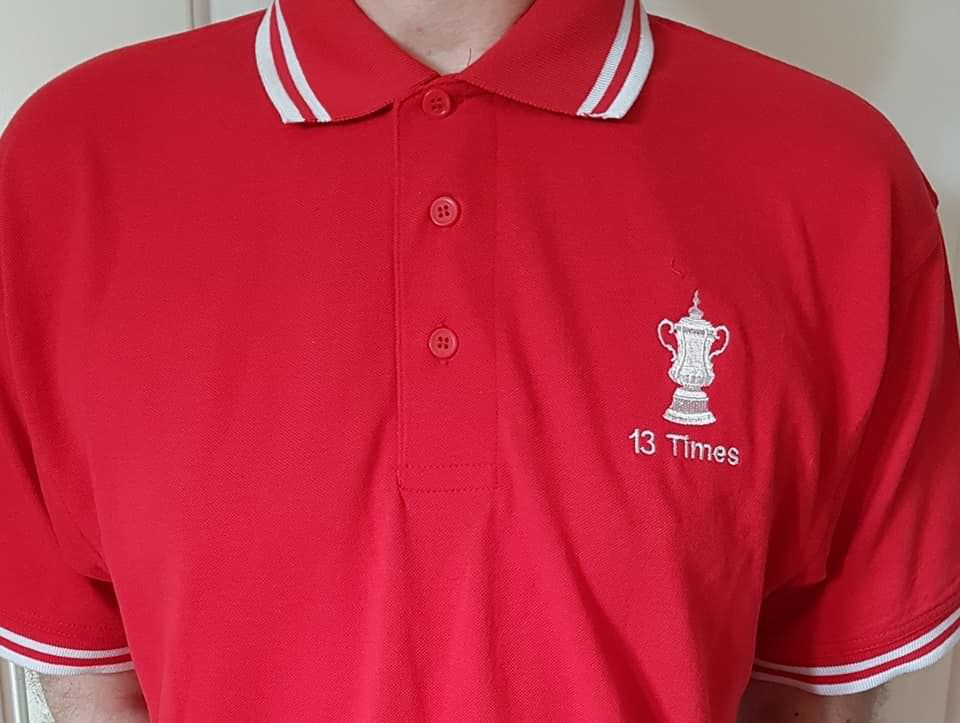 13 Times Polo shirts (Red + White) - product image