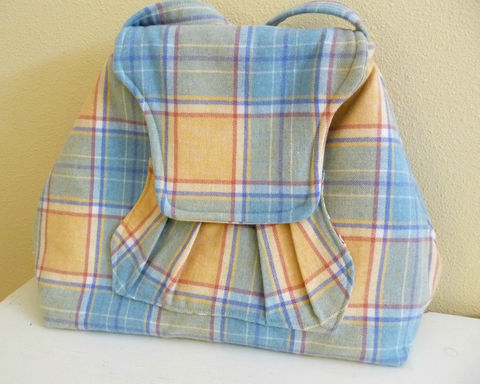 Yellow,Plaid,Merino,Wool,Shoulder,Bag,with,Pleated,Front,Pocket,merino wool shoulder bag, handmade, plaid wool, yellow plaid purse, yellow plaid bag, handmade shoulder bag, handmade purse, handmade bag