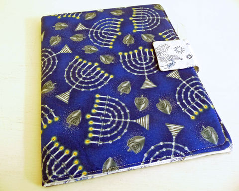 Hanukkah,Print,iPad,2,Cover,,book,style,cover for iPad 2, handmade ipad cover, hanukkah iPad 2 cover,