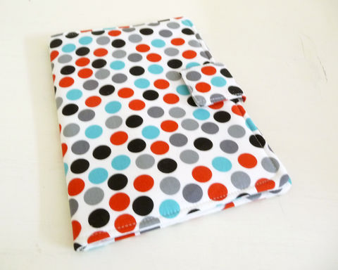 Red,,Blue,,Grey,Polka,Dot,Print,iPad,Mini,Cover,ipad mini cover, handmade ipad mini case, ipad mini 1 cover, pad mini 2 cover, polka dot ipad mini cover, ipad mini case, polak dot cotton ipad mini case