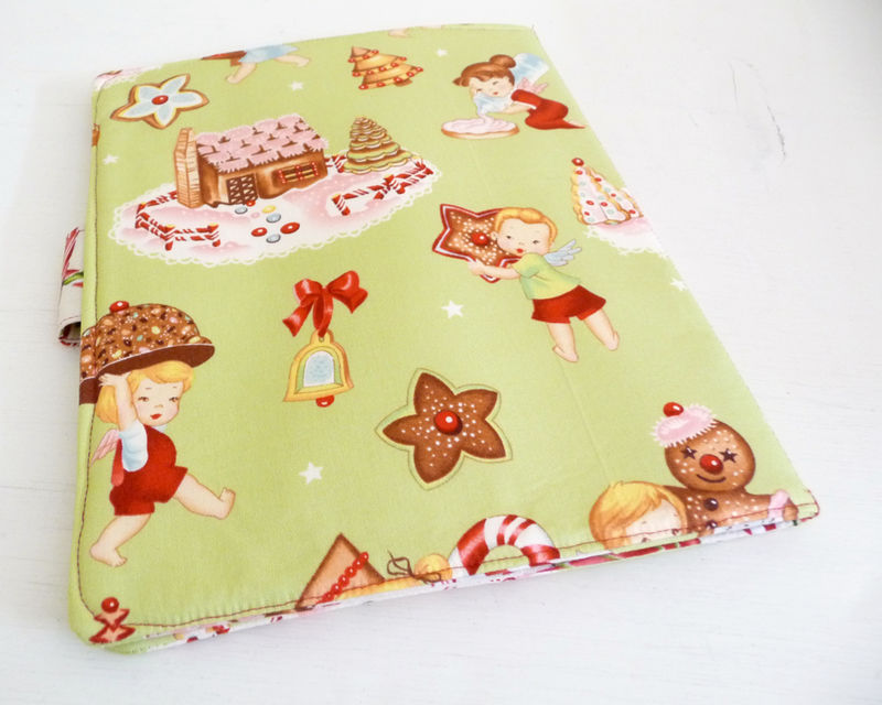 Angel Cakes iPad 1 Cover, Christmas Book Style Case - product images  of