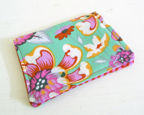 Bright,Floral,Cotton,Print,Card,Case,floral card holder, floral card case, floral card wallet, small card case, small card wallet, floral print business card case, handmade business card case, cotton card wallet, reward card wallet, reward card case