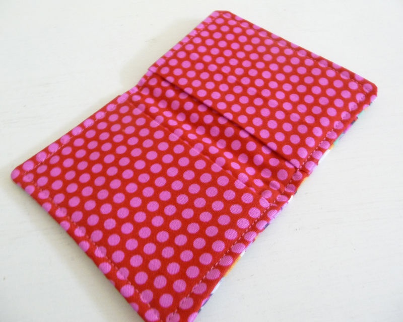 Bright Floral Cotton Print Card Case - product images  of