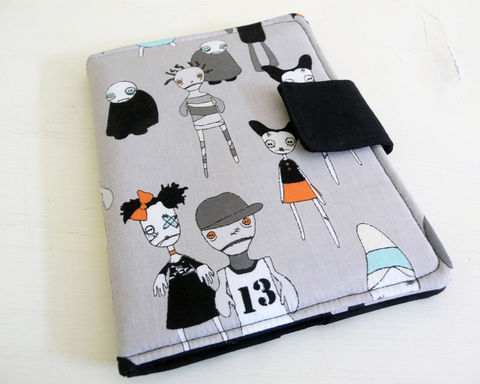 Cute,Zombies,Kindle,Paperwhite,or,Touch,Cover,handmade kindle touch cover, kindle paperwhite cover, cotton kindle cover, handmade kindle touch cover, handmade kindle paperwhite cover, zombie kindle touch cover, cute zombies, zombie paperwhite cover