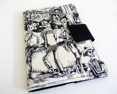 Day,of,the,Dead,Kindle,3,Cover,,Skeleton,Fire,Case,,Book,Style,skeletons kindle 3 cover, day of the dead kindle keyboard cover, handmade kindle 3 case, day of the dead skeleton kindle 3 case, book style cover for kindle keyboard, skeleton kindle fire cover, cover for original kindle fire, kindle fire 1 cover, day of