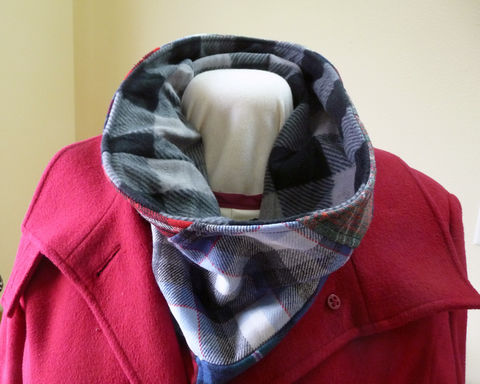 Patchwork,Plaid,Wool,Cowl,Neck,Warmer,patchwork cowl, plaid wool cowl, plaid wool neck warmer, mens cowl, mens neckwarmer, handmade cowl, handmade neck warmer, handmade plaid cowl