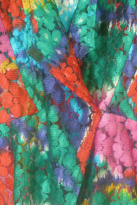VINTAGE MULTI-COLOURED LACE BLOUSE SOLD - product image