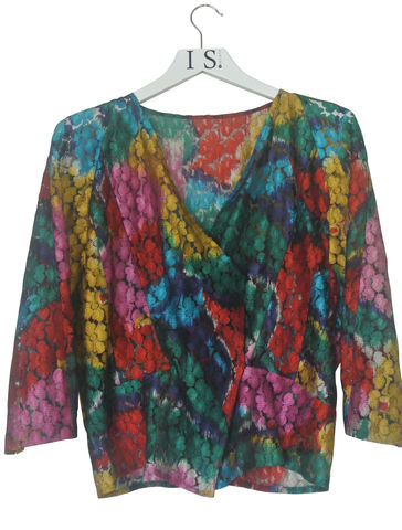 VINTAGE,MULTI-COLOURED,LACE,BLOUSE,SOLD,Vintage lace blouse, delicate lace blouse, lace blouse, , transparent lace blouse, vintage clothing, designer vintage, floral lace dress, multi-coloured lace blouse