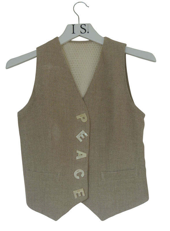 MOSCHINO VINTAGE PEACE WAISTCOAT - product image