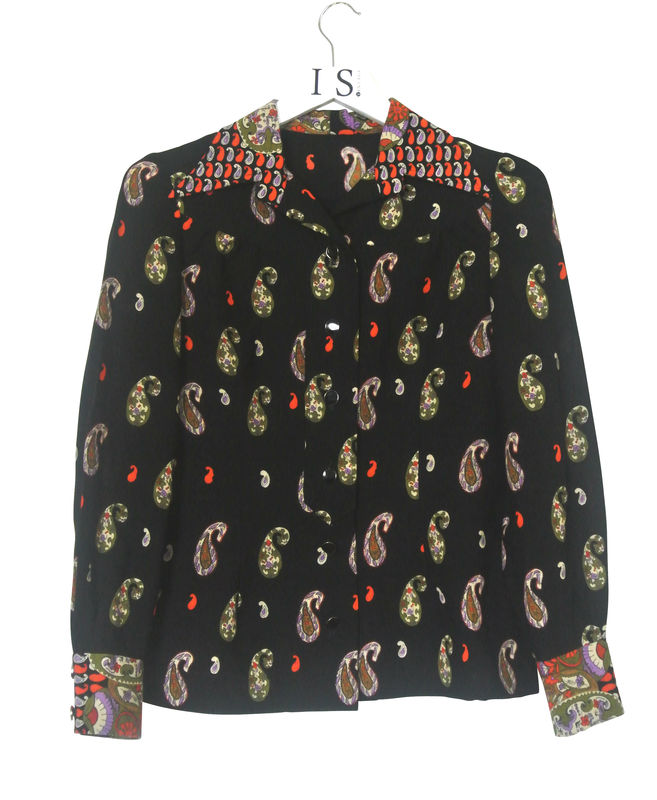 VINTAGE PAISLEY PRINT SHIRT SOLD - product image