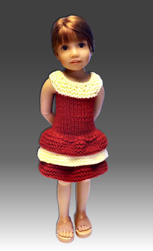 Knitting Patterns For Kidz N Cats Dolls : Doll Dress Knitting Pattern, Fits Kidz n Cats, 18 inch ...