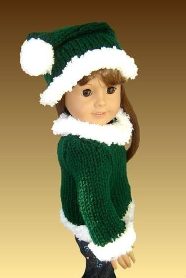 Knitting Pattern. Mrs. Claus. 18 inch doll. Fits American Girl Doll. AG PDF 005 - product images  of