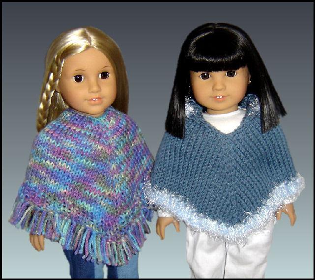 Knitting Pattern Doll Poncho : Doll Poncho Pattern. Knitting, Fits American Girl and 18 ...