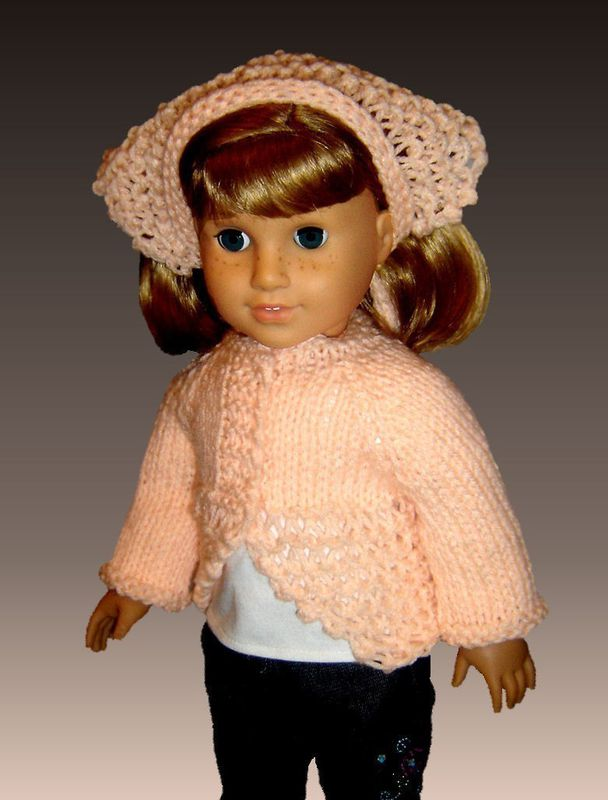 Knitting Patterns For 24 Inch Dolls : Knitting Pattern, fits American Girl and all 18 inch dolls ...