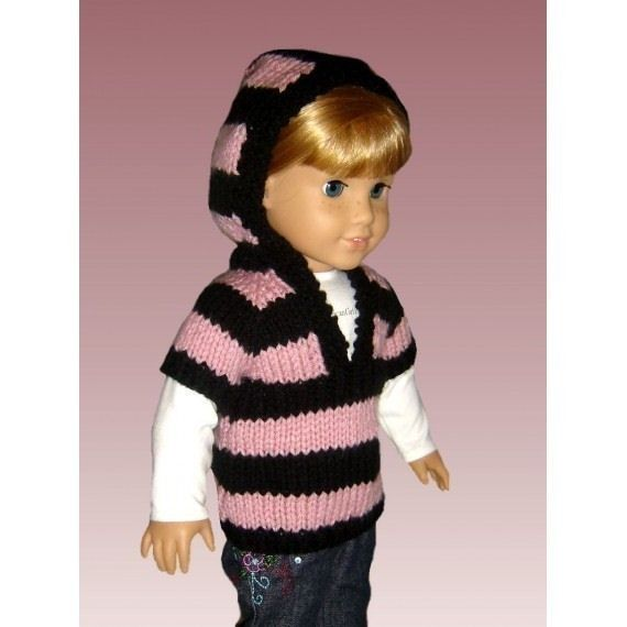 Knitting Pattern for Doll sweater. Fits American Girl and ...
