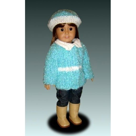 Knitting Pattern for dolls. Fits American Girl and 18 inch ...