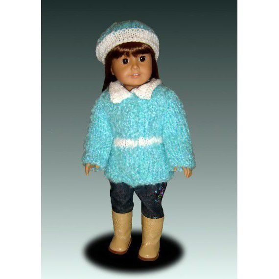 Knitting Patterns For 24 Inch Dolls : Knitting Pattern for dolls. Fits American Girl and 18 inch ...