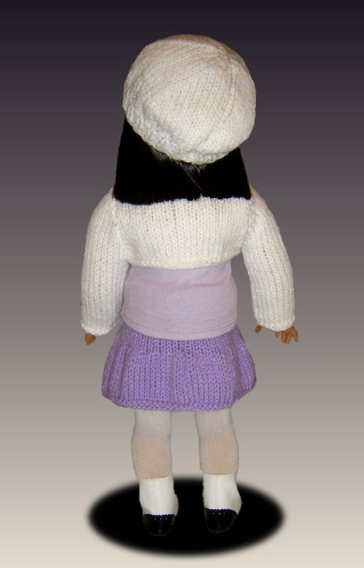 Knitting Pattern, fits American Girl /18 inch dolls, shrug and skirt. AG 034 - product images  of