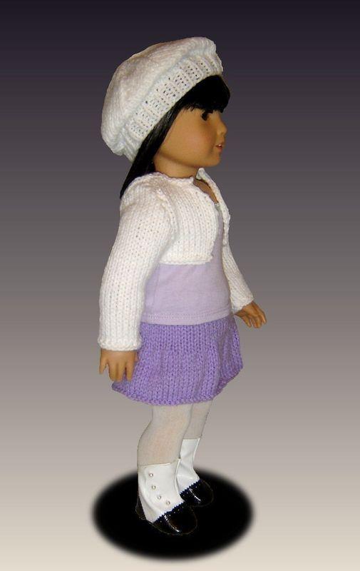 Knitting Pattern For Dolls Skirt : Knitting Pattern, fits American Girl /18 inch dolls, shrug ...