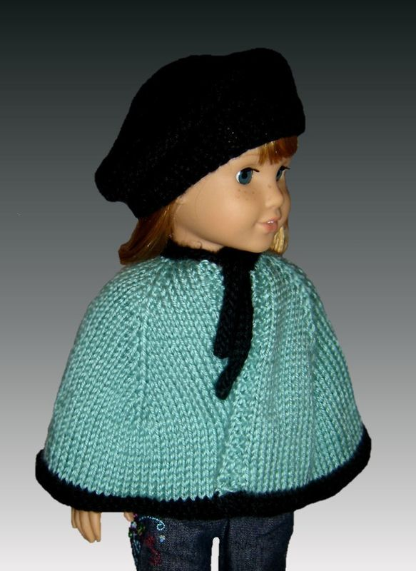 Knitting Pattern Dolls Cape : Knitting pattern, Cape and Beret. Fits American Girl. All 18 inch Dolls. PDF ...