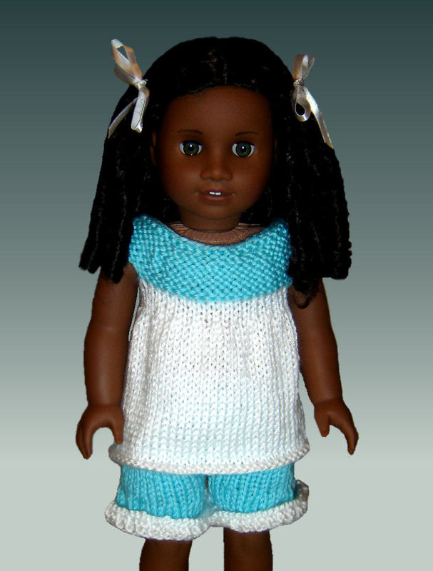 Knitting Patterns For 24 Inch Dolls : Knitting Pattern, fits American Girl and 18 inch doll ...