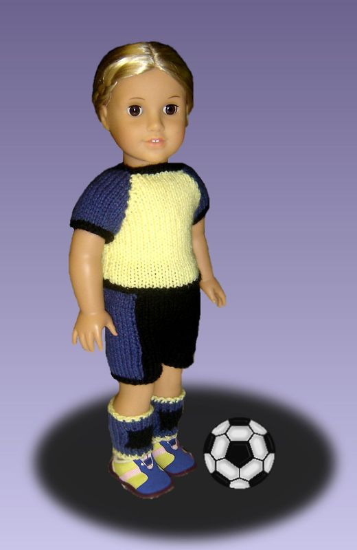 Doll clothes knitting pattern. Fits American Girl Doll. PDF, AG ...