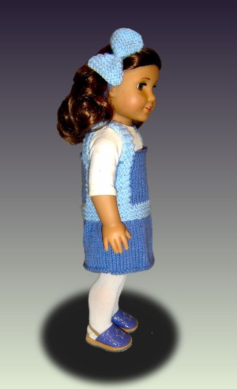 Knitting Pattern Toy Jumper : Doll Jumper Knitting Pattern, for American Girl and 18 ...