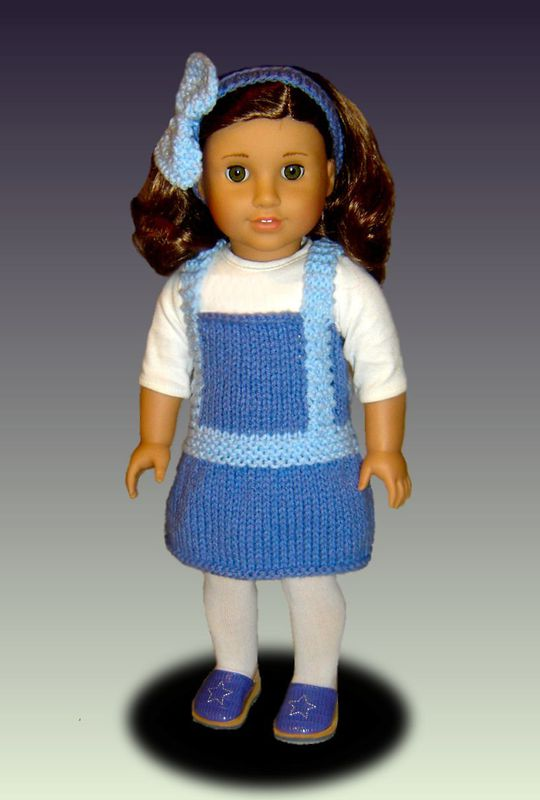 Knitting Patterns For 24 Inch Dolls : Doll Jumper Knitting Pattern, for American Girl and 18 ...