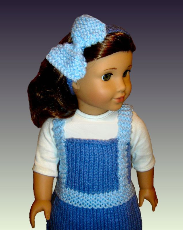 Doll Jumper Knitting Pattern, for American Girl and 18 inch doll. 030 - Styli...