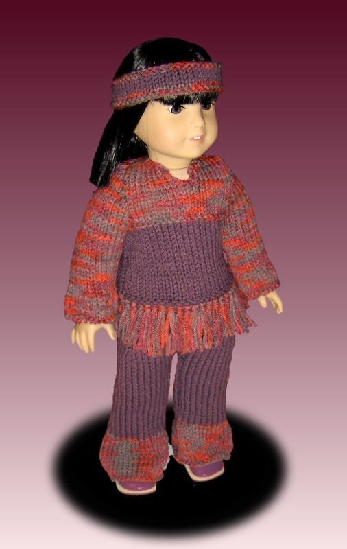 Knitting Pattern For Dolls Trousers : PDF Knitting Pattern for Dolls. Fits American Girl Doll. Tunic and Pants. AG ...