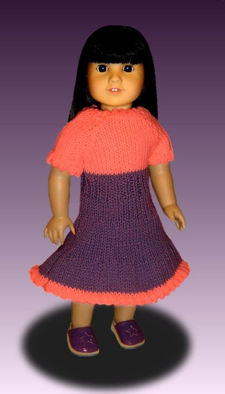 Doll Peasant Dress knitting pattern, for American Girl and ...