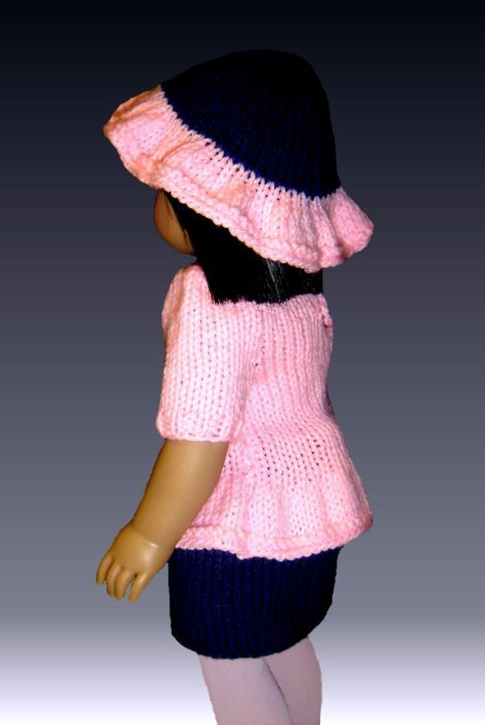 Knitting Pattern, fits American Girl and 18 inch dolls. PDF, Gotz, 020 - product images  of