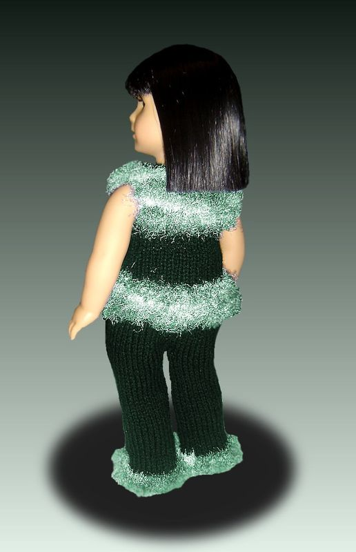 Pant suit knitting pattern, for American Girl and 18 inch Doll AG PDF 032 - product images  of