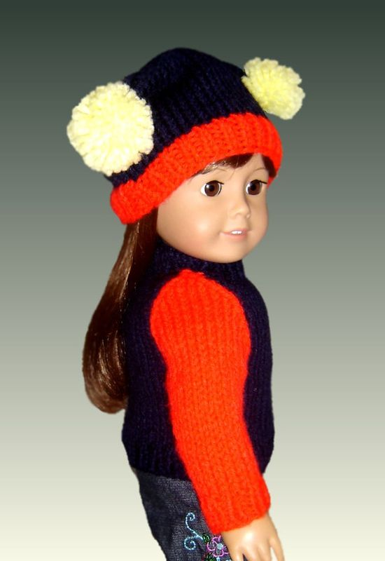 Knitting Patterns For Maplelea Dolls : Fits American Girl Doll (Gotz, Maplelea). Knitting Pattern ...