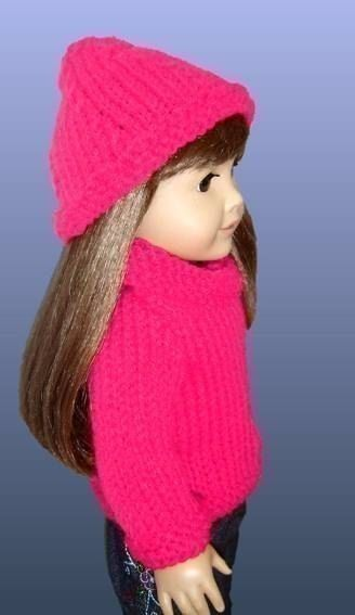 Knitting Pattern. Fits American Girl Doll and 18 inch. AG Clothes PDF 004 - product images  of