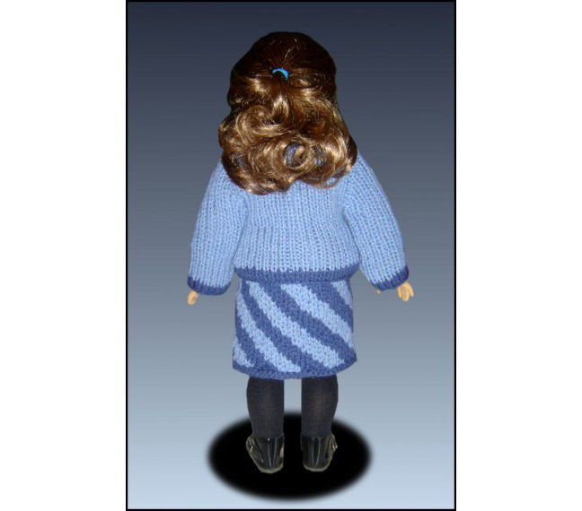 18 Inch Doll Clothes Knitting Patterns : Knitting pattern. Fits American Girl Doll and 18 inch doll. Doll Clothes. AG ...