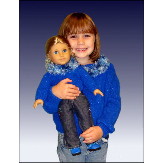 Knitting Patterns, Girls and Dolls. Fits Girls size 4-10 and American Girl. 18 inch, PDF, 541 - product images  of