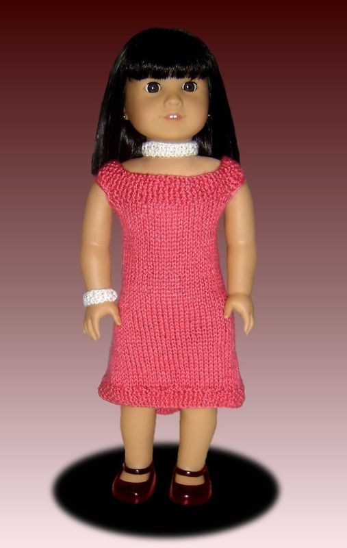 Free 18 Inch Knitted Doll Clothes Patterns : Fits American Girl. Knitting pattern, doll clothes, 18 inch PDF AG 035 - Styl...