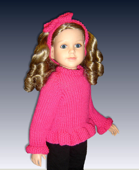 Knitting Patterns For 24 Inch Dolls : Knitting Pattern fits 23 inch dolls, My Twinn (My BFF ...