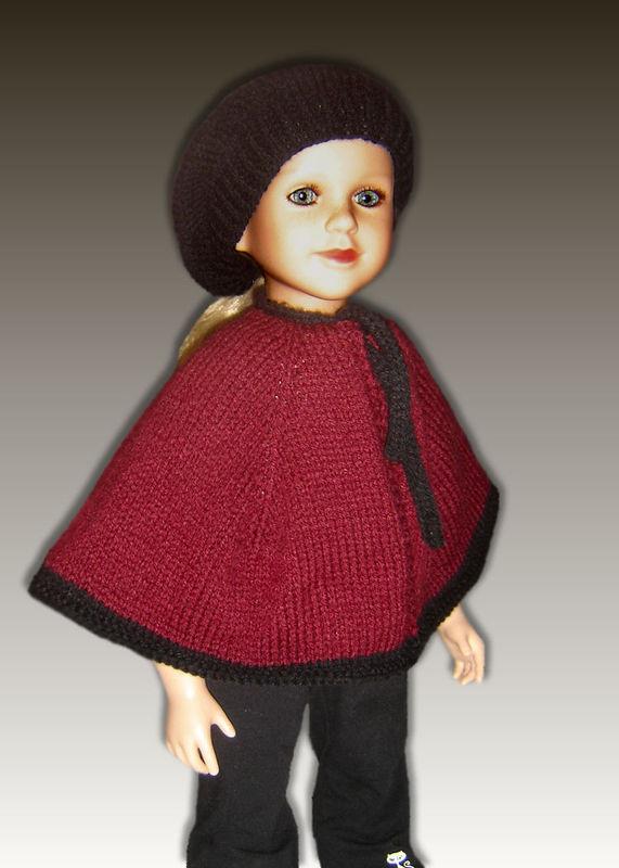 Knitting Pattern Dolls Cape : Cape and Beret Knitting Pattern fits My Twinn (My BFF), 23 inch dolls. PDF 61...