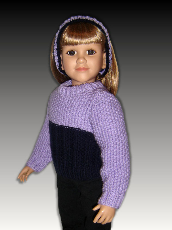 Knitting Patterns gor Girls and Dolls, 23 inch and My Twinn Doll, PDF, 901 - product images  of