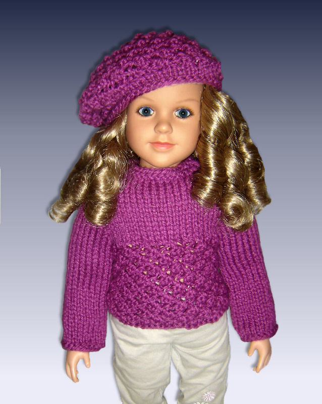 Sweater Knitting Patterns, matching girls and dolls, My Twinn, 23 inch, My Bf...