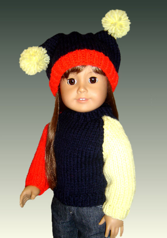 Knitting Patterns for American Girl Doll and Girls. 18 inch. - product images  of