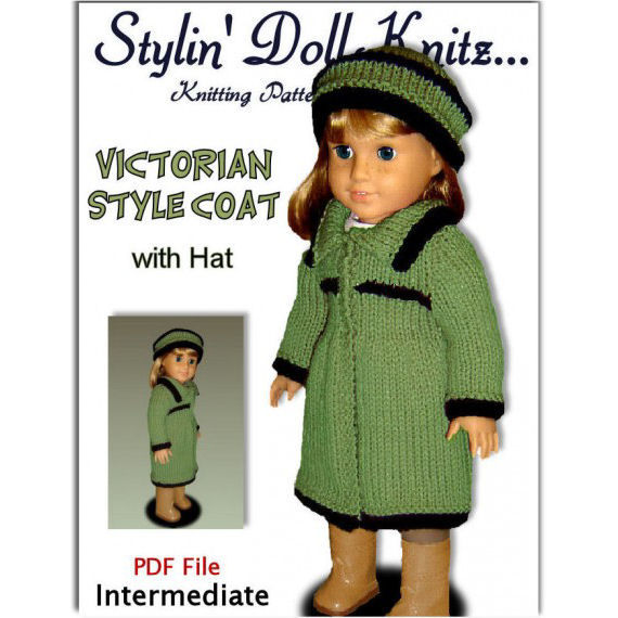 Knit Pattern Books For 18 Inch Doll Clothes : American Girl Doll knitting pattern, fits all 18 inch ...