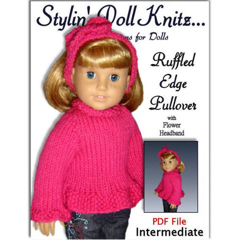 Knitting,Pattern,,fits,American,Girl,and,all,18,inch,dolls,,PDF,AG,clothes,042,Patterns,Doll_Clothing,American_Girl_Doll,Maplelea_Girl,18_inch_doll,Handmade,Knitting_pattern,AG_Doll,doll_sweater_pattern,Gotz_sweater,stylindollknitz,Madame_Alexander,PDF_knit_pattern,doll_clothes_pattern,AG_Doll_Hair_Bow