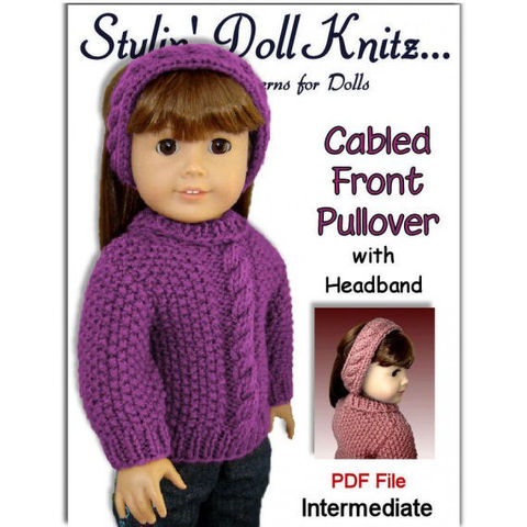 18,inch,doll,knitting,pattern.,Fits,American,Girl,Doll.,Cabled,Sweater,003,Patterns,Knitting,18_inch_doll,american_girl_doll,doll_clothing,knitting_pattern,doll_sweater_pattern,headband_pattern,cable_knit_pattern,AG_doll_clothes,pdf_knitting_pattern,Gotz_knit_pattern,AG_sweater_pattern,cabled_knit_pattern,pdf_pa