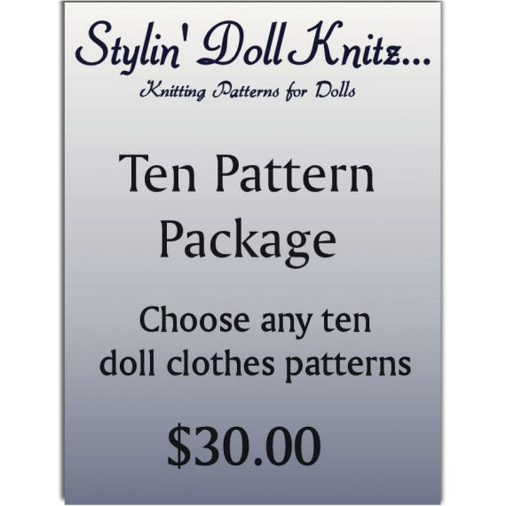 Doll clothes knitting patterns. 18 inch (American Girl doll) You choose. 0001 - product images
