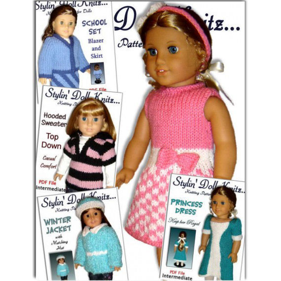 Knitting Patterns For American Girl And 18 Inch Dolls Diy Knitted
