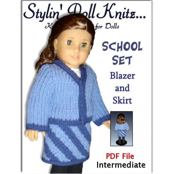 Knitting Patterns for American Girl and 18 inch dolls. DIY Knitted Clothes 08 - product images  of
